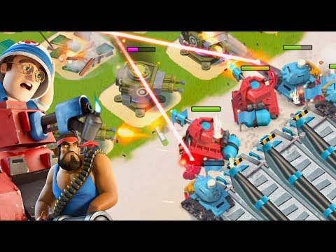 Boom Beach FINDING the BEST Troop to use with the Lazortron Mk. 2!