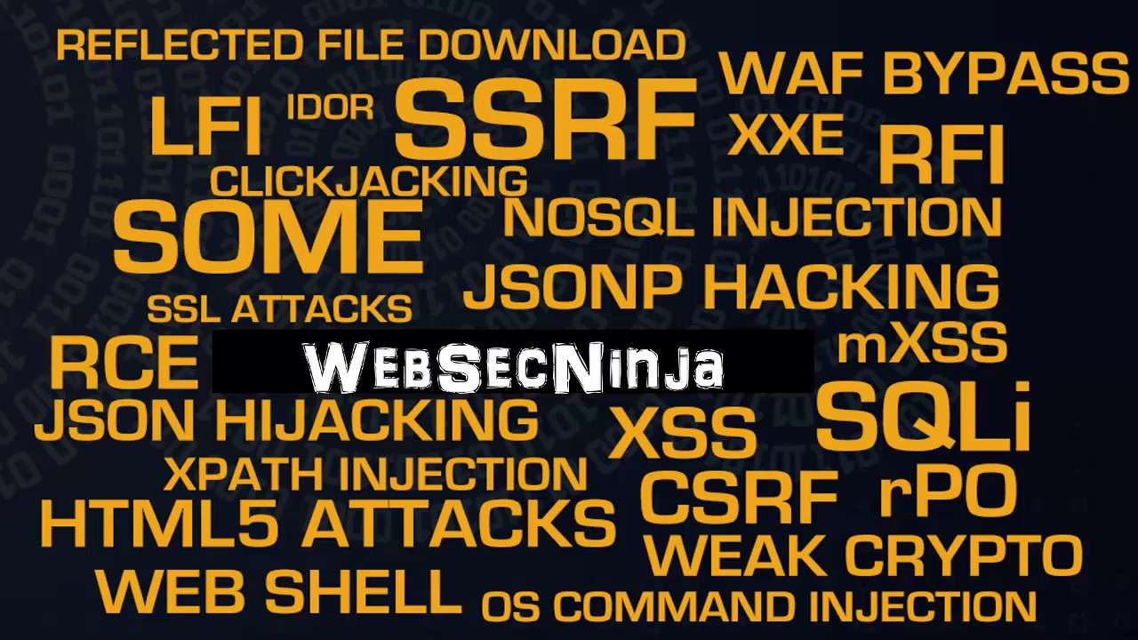 WebSecNinja: Lesser Known WebAttacks - WSNOpSecX