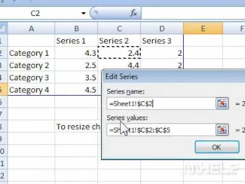 How To Modify Legend Entries For A Chart In A Document Youtube
