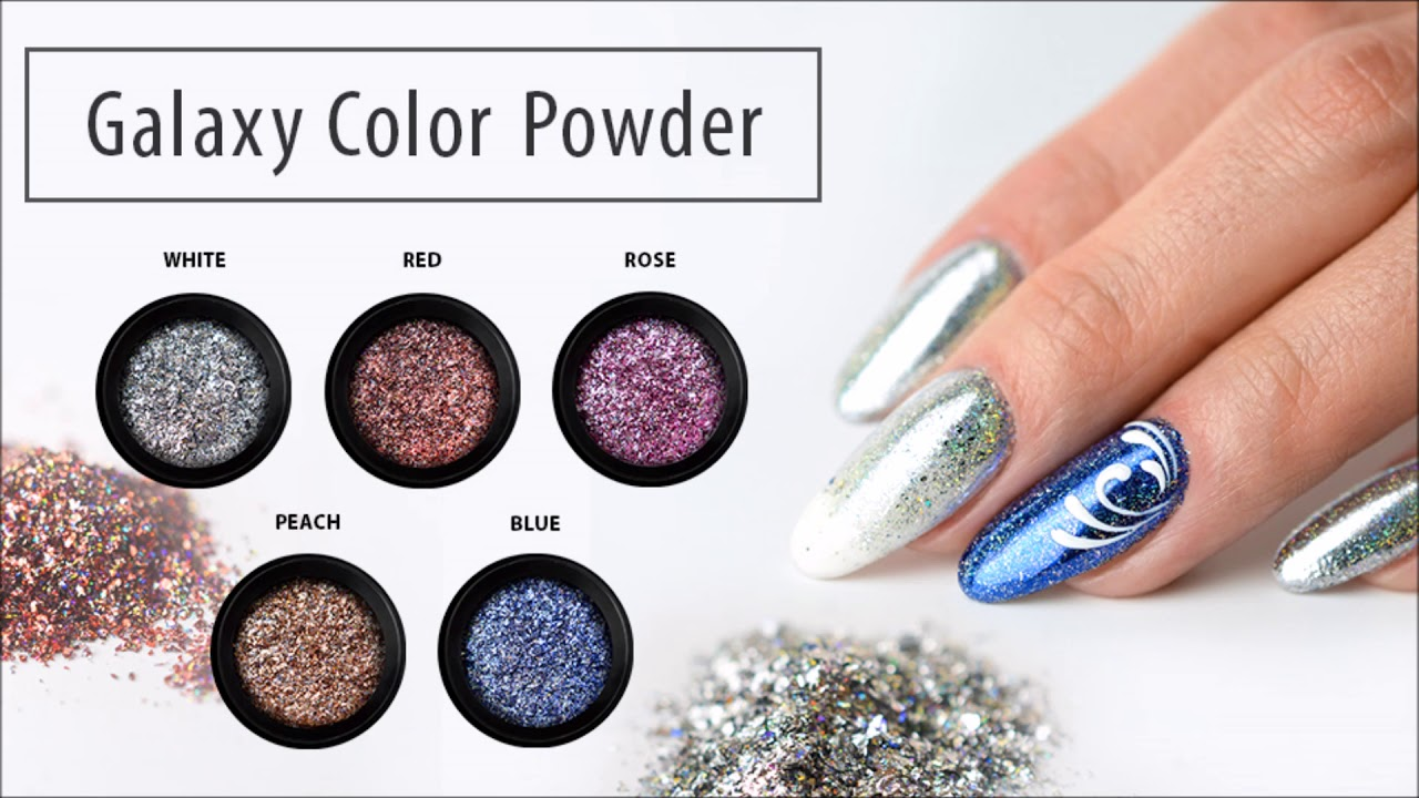 Galaxy Color Powder | Perfect Nails - YouTube
