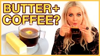 Coffee With Butter?! Taste Test with MacyKateMusic