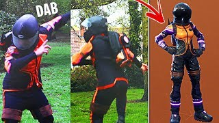 The day I became the Dark Vanguard Skin in Real Life! (Fortnite Battle Royale)