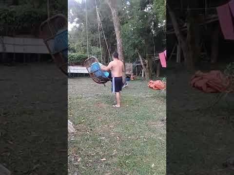 Filho cuidando do papai pega as boas em Tijucas do Sul