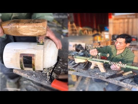 Amazing crafts use bamboo & wood new DIY make PUBG items, any weapon