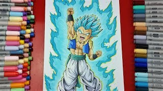 Drawing Gotenks SSjBlue | Battle vs Razem Art | TolgArt