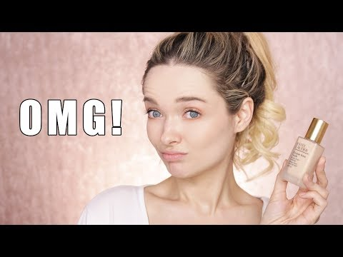 TESTING THE NEW ESTEE LAUDER DOUBLE WEAR FOUNDATION! // MyPaleSkin