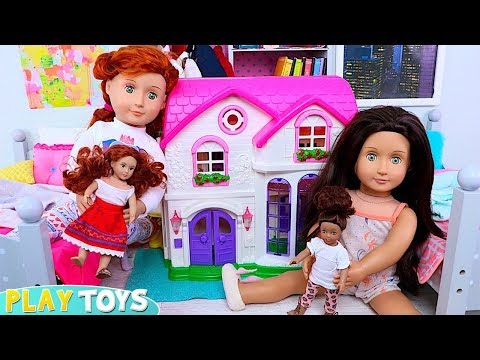 OG Dolls Evening Routine for School with Funny Tricks!