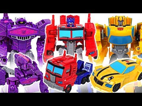 Transformers Cyberverse warrior class Optimus Prime, Bumblebee VS Shockwave, Starscream! #DuDuPopTOY
