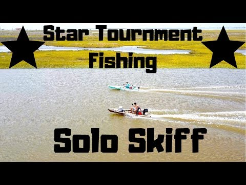 CCA Star Tournament Fishing In Solo Skiff (Power-Pole Micro Installed)