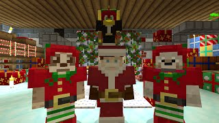 Minecraft Xbox Lets Play - Survival Madness Adventures - Rescue Santa Mini Game [177]