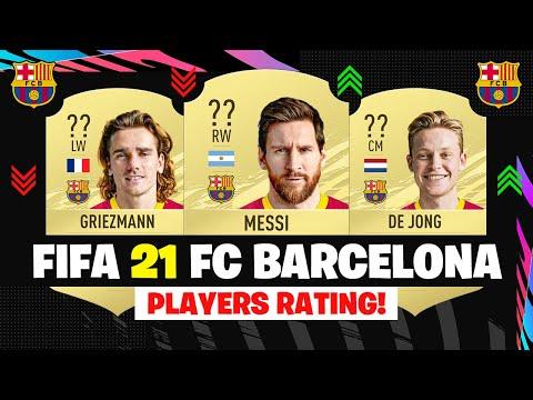 FIFA 21 | FC BARCELONA PLAYERS RATING! 😱🔥| FT. MESSI, GRIEZMANN, DE JONG... etc