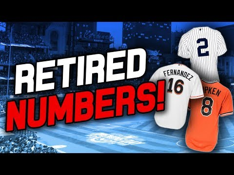 ALL OF THE RETIRED NUMBERS IN THE MLB!
