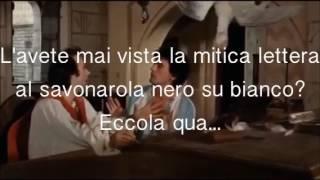 Lettera al Savonarola Troisi Benigni Non ci resta che piangere