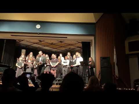 Castaic Middle School Choir 2019 ~ Ha' Neirot Ha' Lalu by Linda Marcus, by CMS Choir, Faith on flute