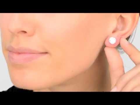 4 TCW Jessica's Sterling Silver Stud Earrings