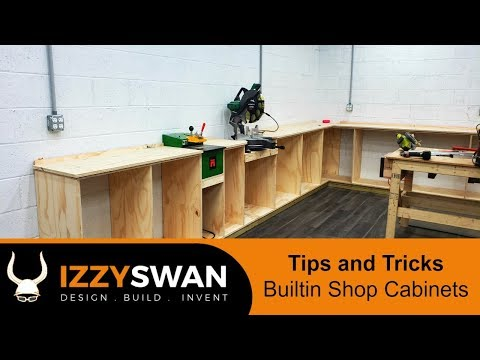 Simple Built-in Shop Cabinets | How To Woodworking