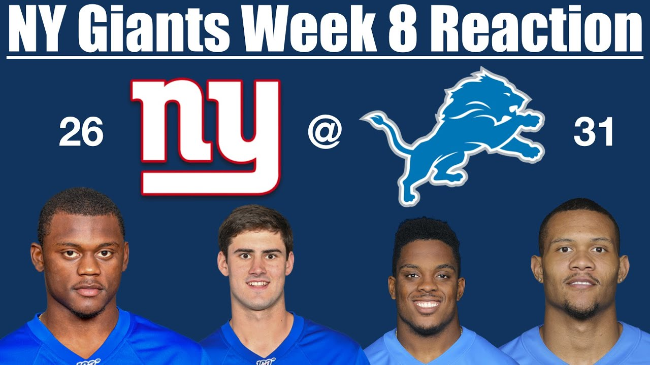 NY Giants Week 8 Reaction (