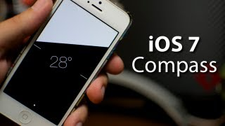 iOS 7 - Compass App With NEW Feature On iPhone 5