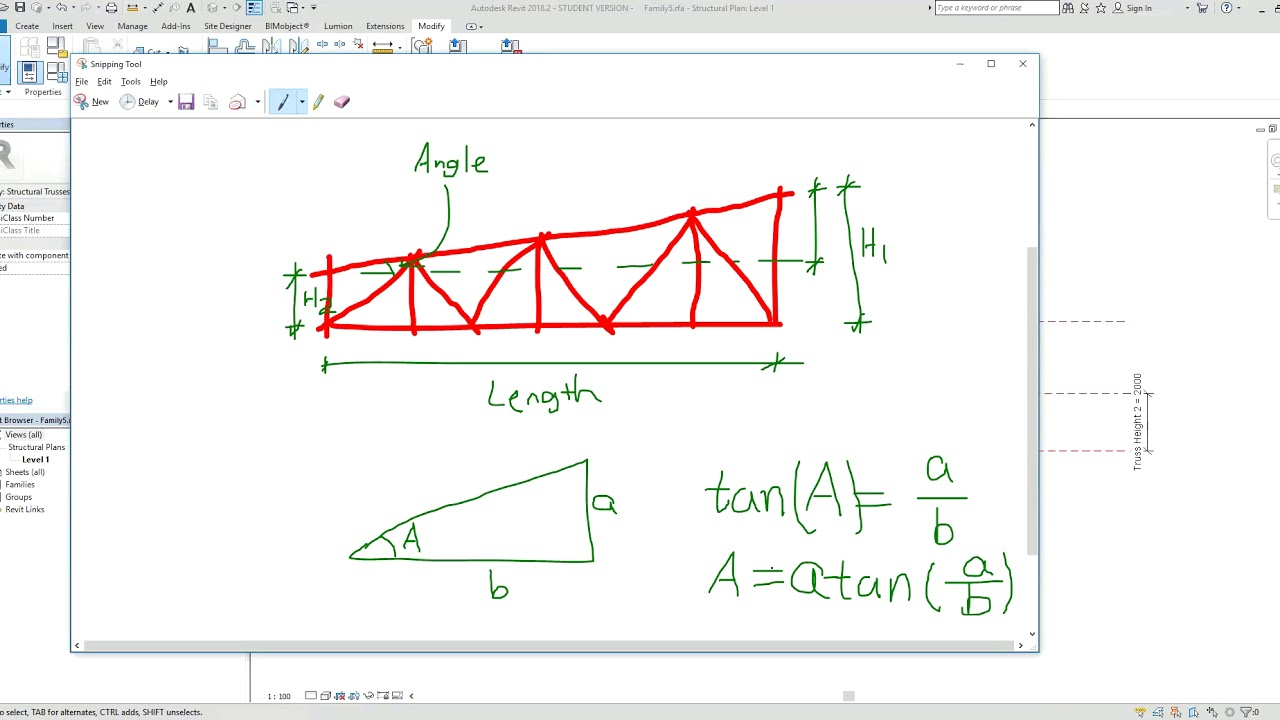 Adding angle parameter to truss family