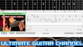 [Guitar Solo Tab] Souvenir D'enfance (Richard Clayderman)