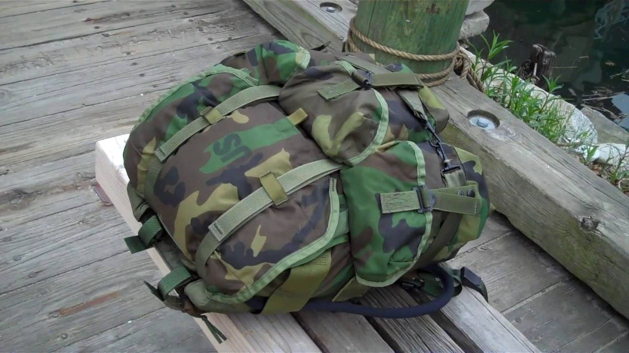 US Military Woodland Camo Alice Field Pack Backpack Medium MAIN PACK ONLY Good