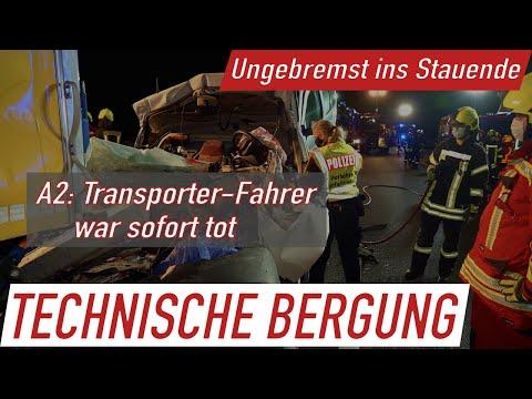 Tödlicher Unfall am Stauende bei Lauenau: Transporter kracht mit hoher Geschwindigkeit in 40-Tonner
