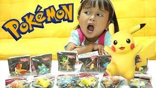 Jenica Anak lucu review mainan POKEMON 💖 Pikachu Toys for Kids Unboxing Video
