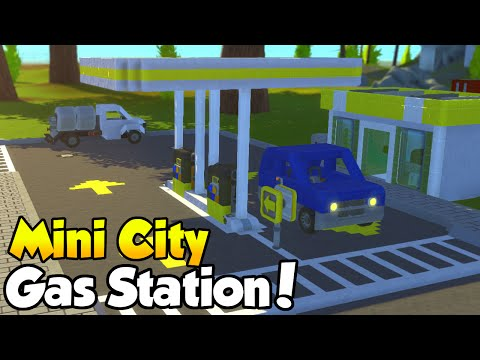 "MINI CITY [EP. 7] - ""Gas Station + Vehicle Showcase!"" - Scrap Mechanic Community Build!"