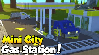 "MINI CITY [EP. 7] - ""Gas Station + Vehicle Showcase!"" - Scrap Mechanic Community Build!"