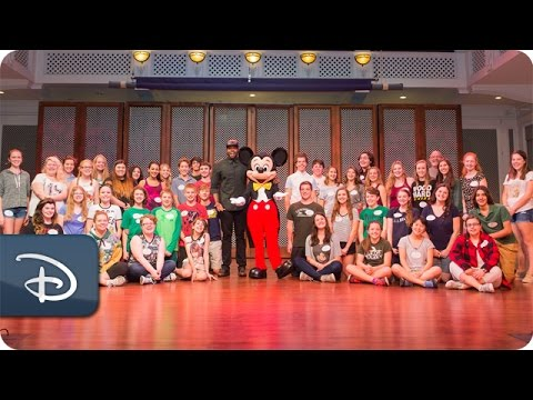 Pentatonix Star Visits Disney Performing Arts Workshop