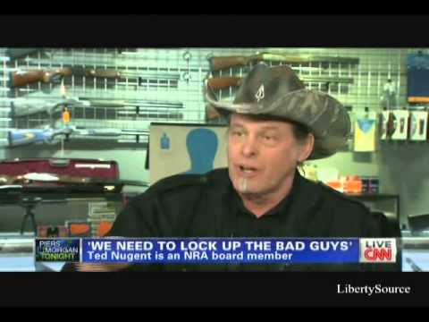 Piers Morgan Vs Ted Nugent On Gun Control Cnn 2 4 13