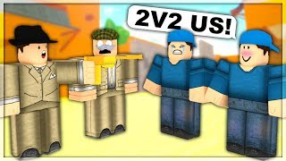 2v2ing Fans In Arsenal  Roblox