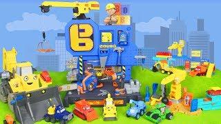 Bob der Baumeister Spielzeugautos, Bagger, Lastwage & Kran Video für Kinder auf deutsch