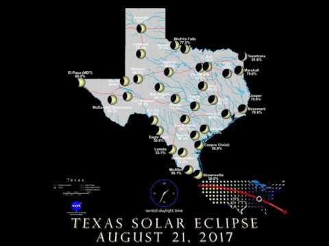 Total Eclipse of the Sun on August 21, 2017 -- Texas