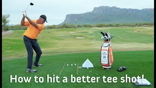 HOW TO HIT A BETTER TEE SHOT GOLF TIP!