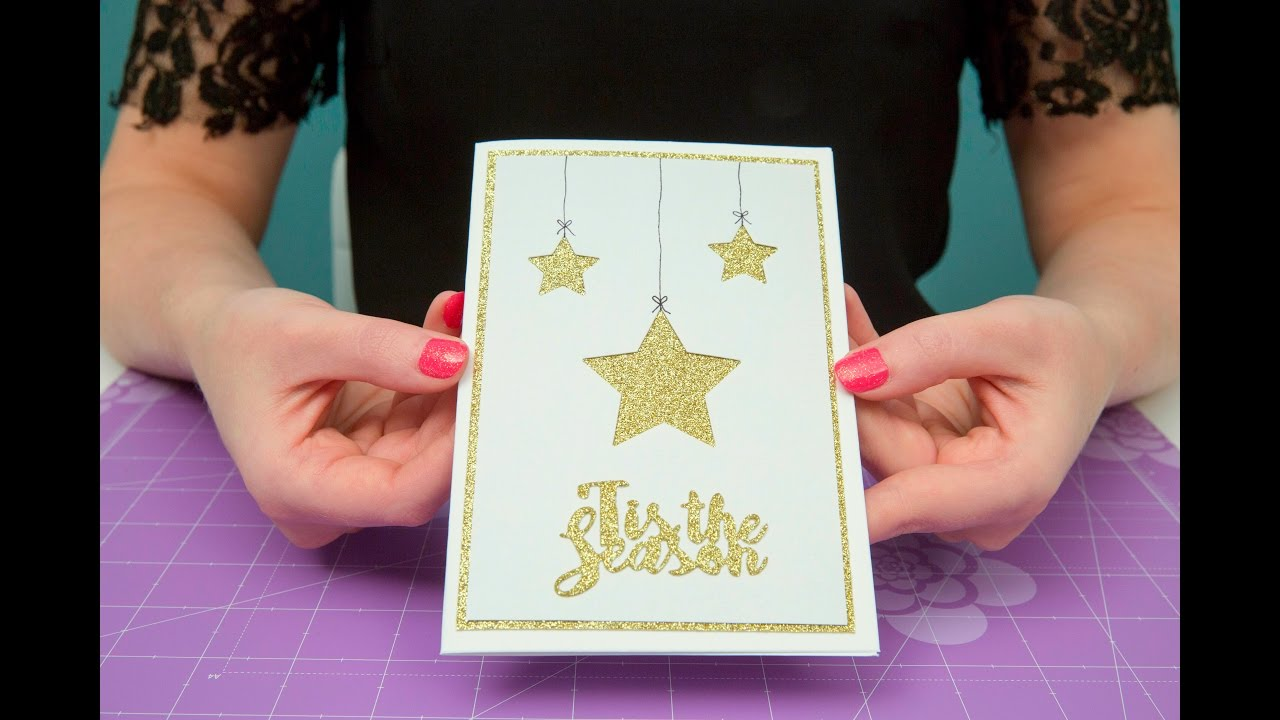 Christmas Card Making Ideas Youtube Part - 48: Quick Handmade Christmas Card Tutorial - YouTube