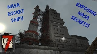 NASA Space Rocket in 7 Days To Die! Space Zombies Have A Lot Of Secrets!