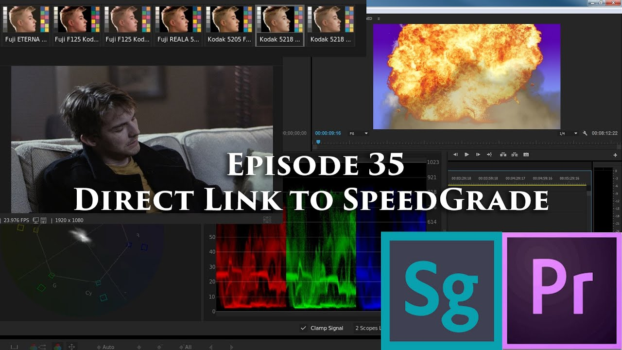 episode 35 - direct link to speedgrade - tutorial for adobe premiere