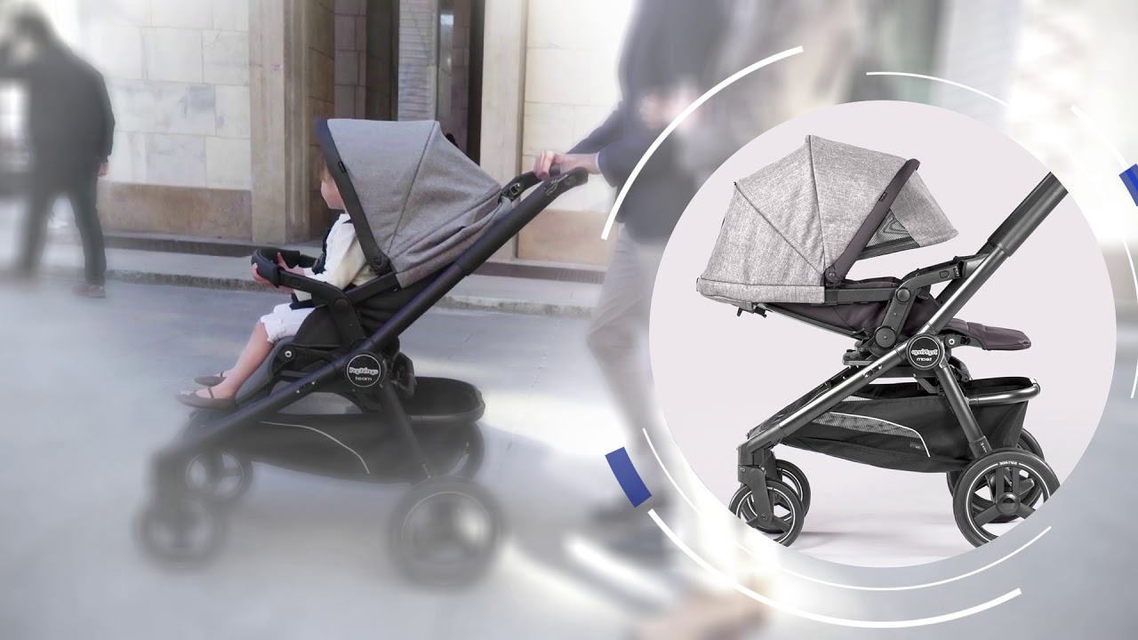 Peg Perego Book Classico Pois Grey Team Stroller The Premium Single Stroller That Turns Into