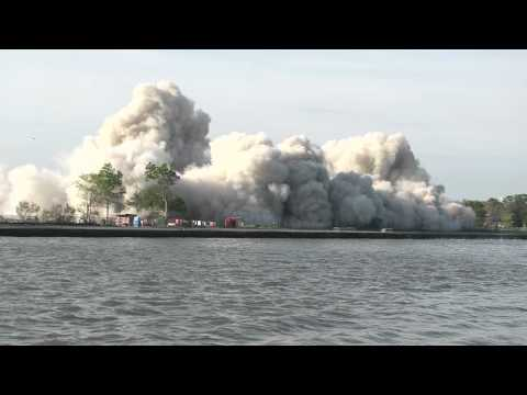FDNY's Fire Prevention Oversees Building Implosion on Governor's Island