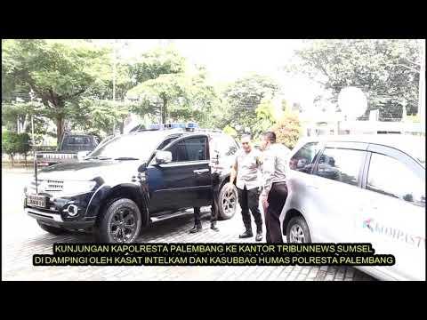 Kunjungan bapak kapolresta palembang keredaksi sriwijaya post -tribunnews sumsel