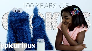 Kids Try 100 Years of Cookies with Cookie Monster | Bon Appetit