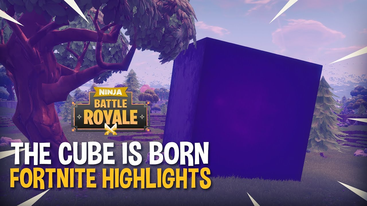 The CUBE Is Born!! - Fortnite Battle Royale Highlights - Ninja