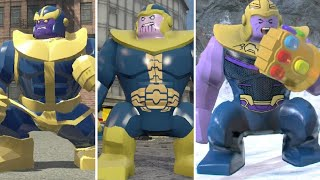Evolution of Thanos in LEGO Marvel Videogames (2013-2018)