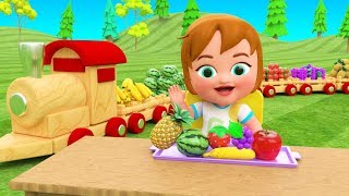 Learning Fruits Names for Children with Little Baby Girl Fun Eating Fruits Ninja 3D Kids Educational