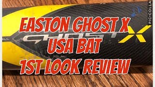 2018 Easton Ghost X -10 USA Baseball Bat 1st Look Review - True Weight and Max Barrel Length