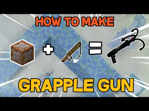 How To Make Grapple Hook (No Mods) In Minecraft PE/PC With Fishing Rod With Using Command Block