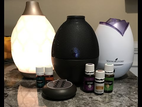 Young Living Diffusers Demo - New Desert Mist, Rainstone, Rose Home Diffuser