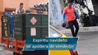 Vendedor de gas se vuelve viral por ingenioso pregonar al ritmo de villancicos