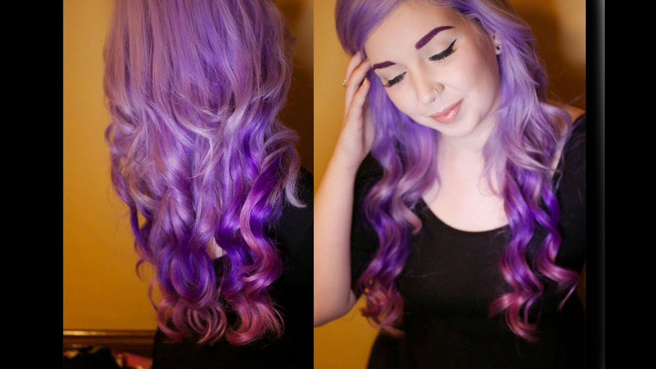 How To - My Little Pony Hair - Lavender Purple Pink Ombre ...